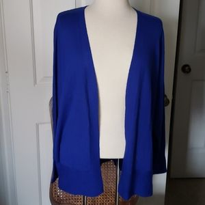 Royal Blue XL Coldwater Creek Cardigan Sweater